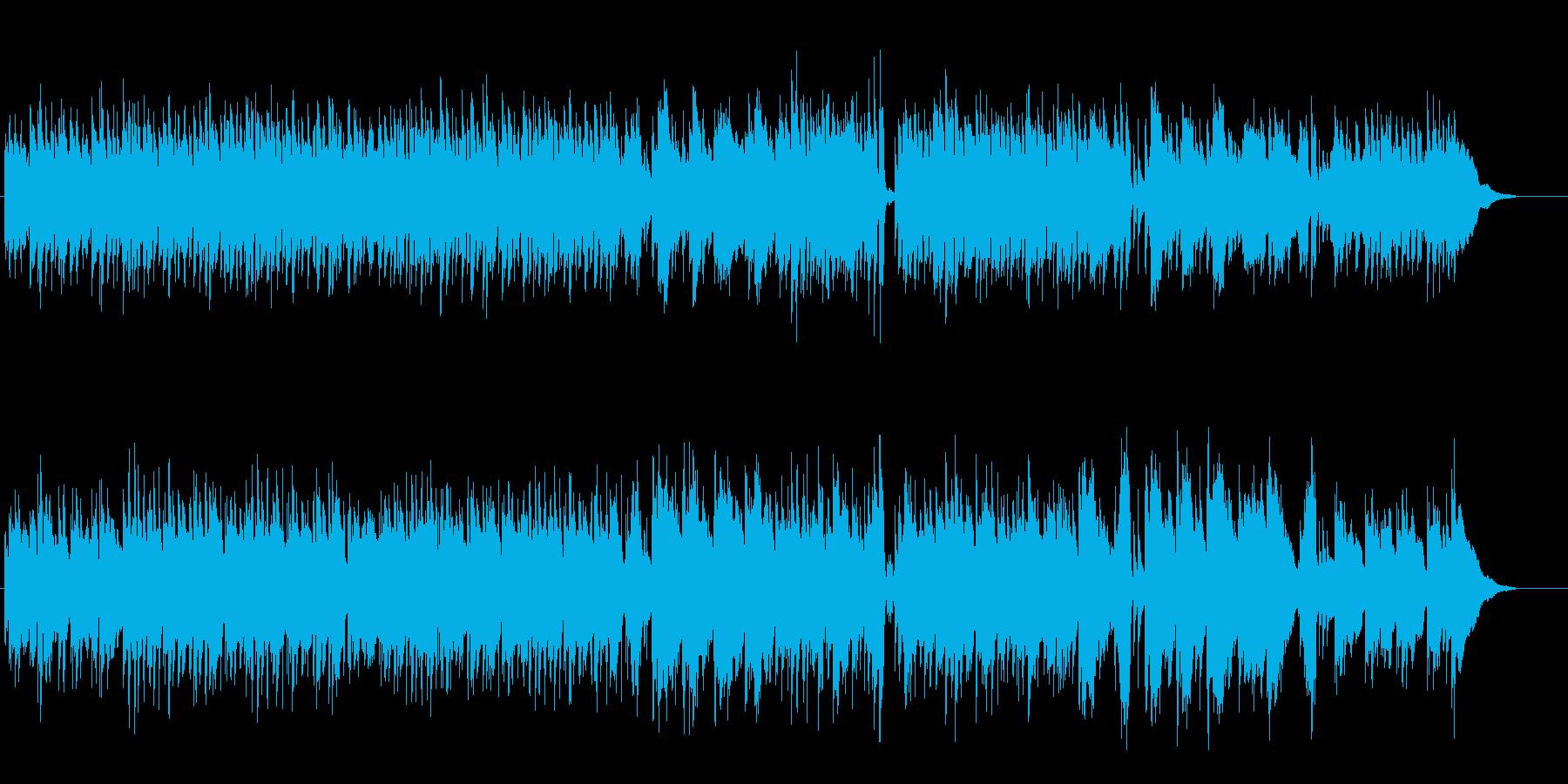 ピュアなアコースティック・ギターの再生済みの波形