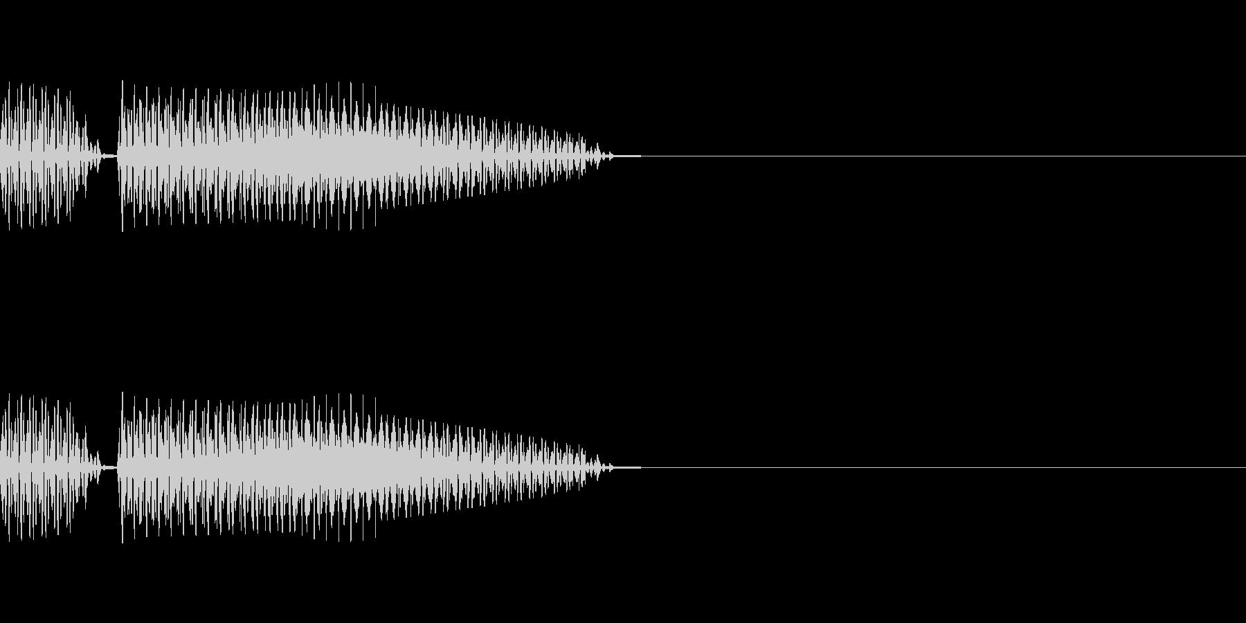 ブブー(クイズ不正解音、ハズレの音)の未再生の波形