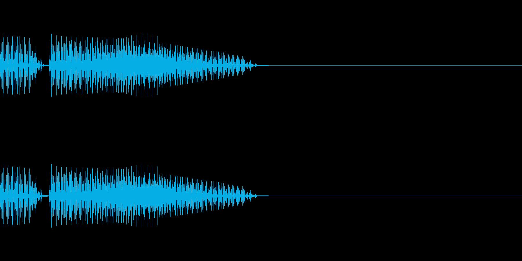 ブブー(クイズ不正解音、ハズレの音)の再生済みの波形