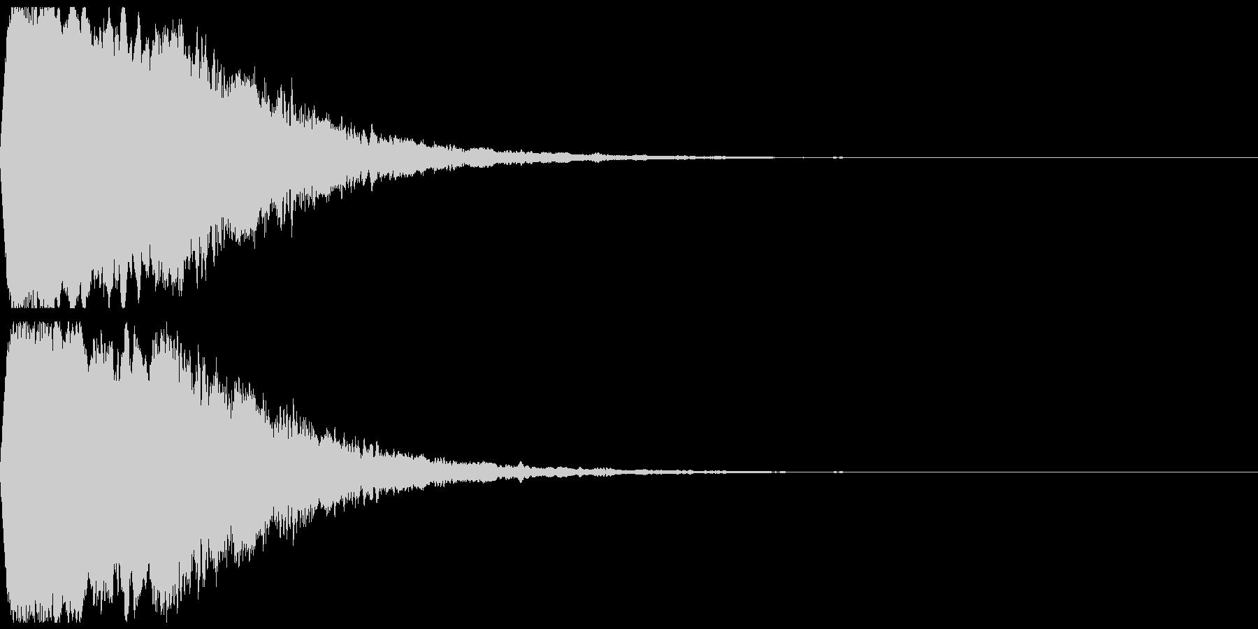 緊張感のある効果音の未再生の波形
