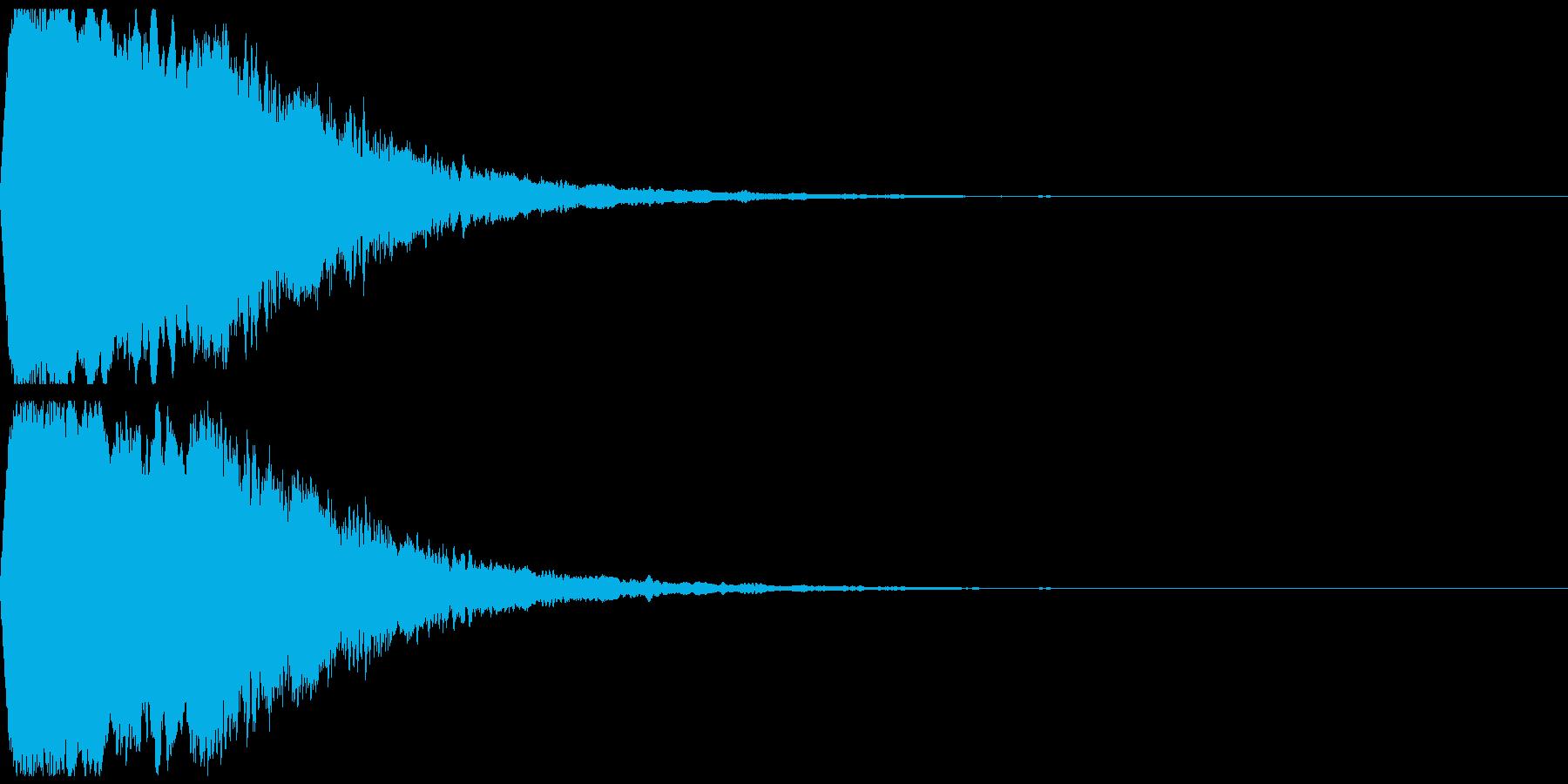緊張感のある効果音の再生済みの波形