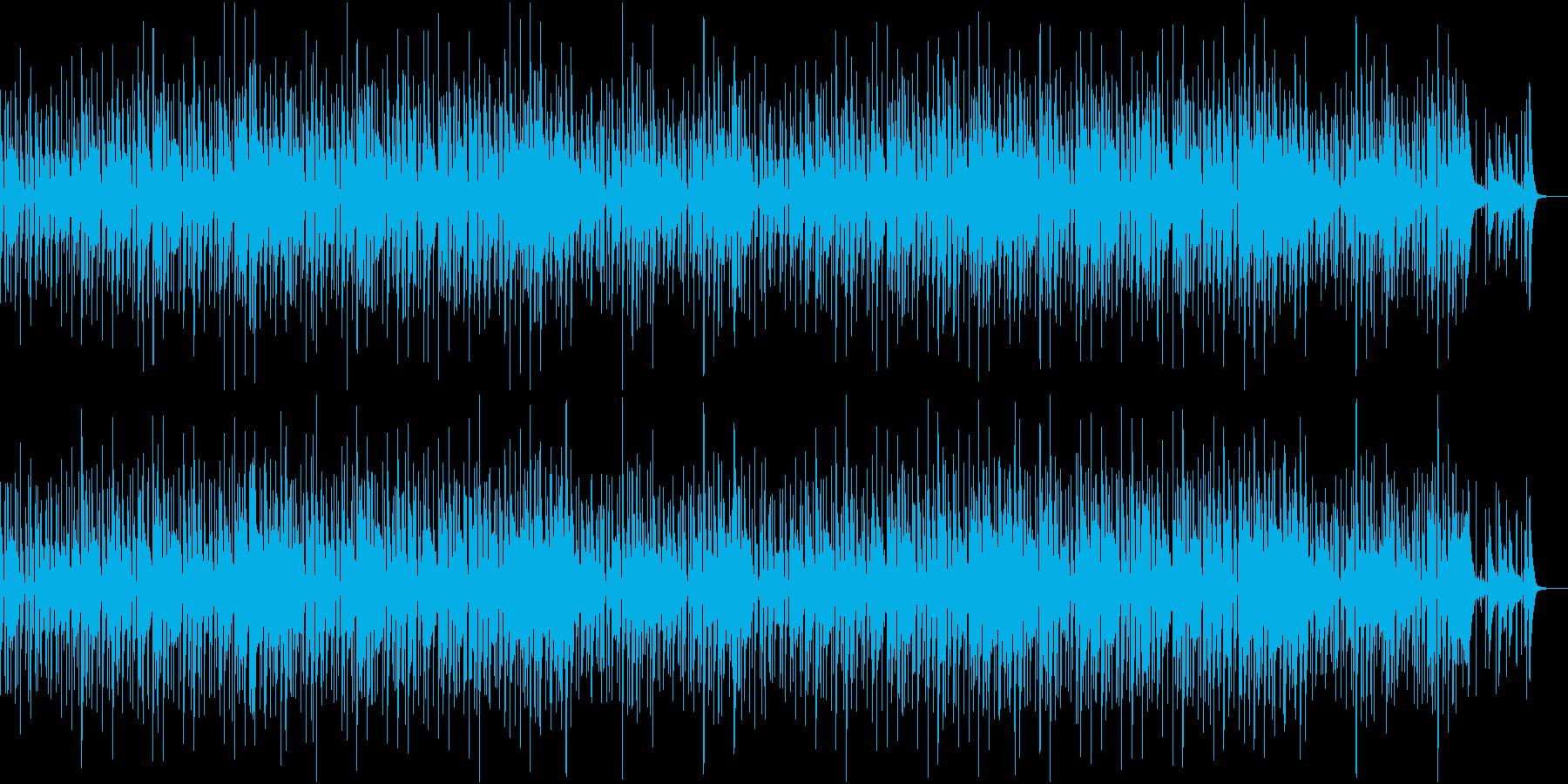 シンプルで落ち着いた雰囲気のジャズの再生済みの波形