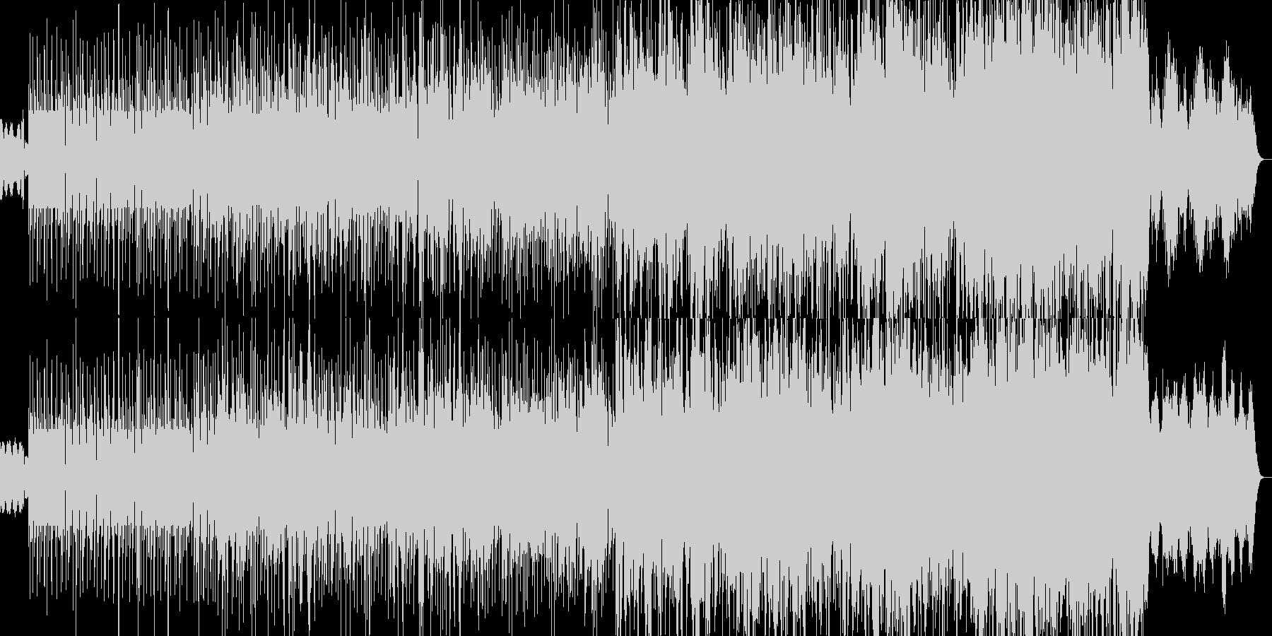 電子的で不穏な予兆のヒップホップビートの未再生の波形