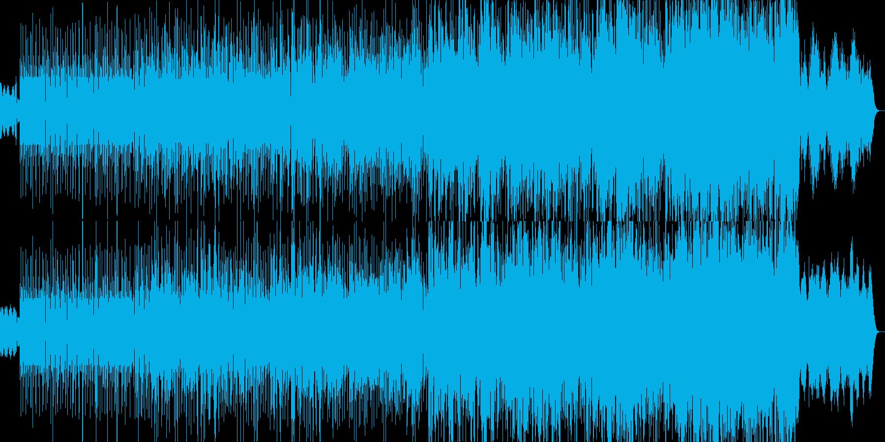電子的で不穏な予兆のヒップホップビートの再生済みの波形