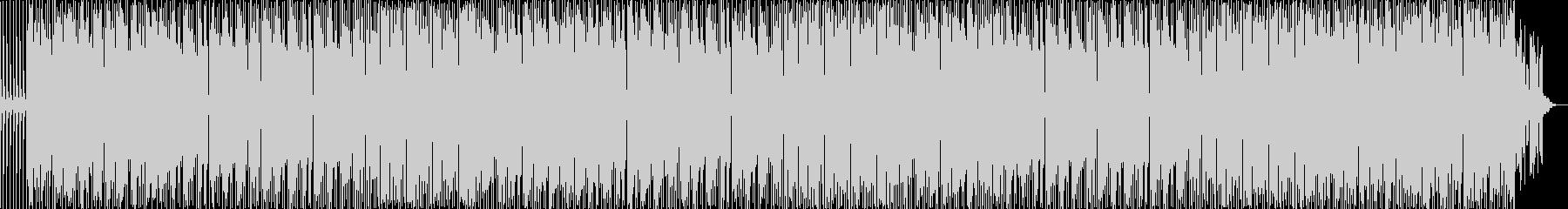 懐かしい感じのテクノポップの未再生の波形
