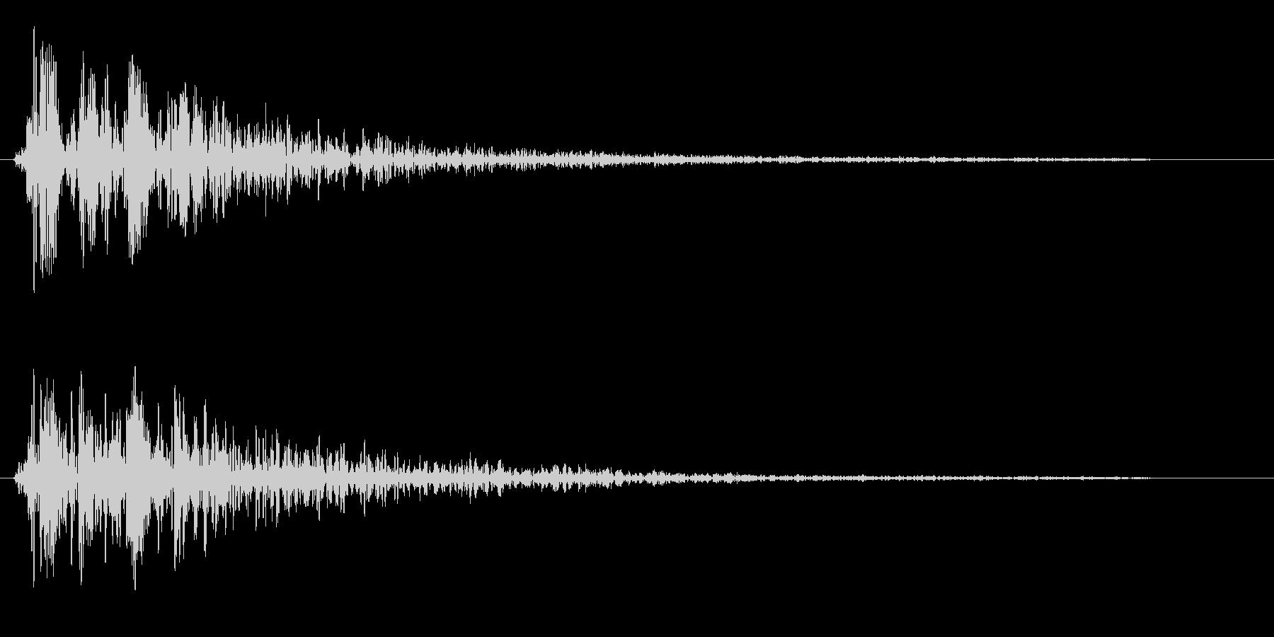 ブワオーン(変化を感じる効果音)の未再生の波形