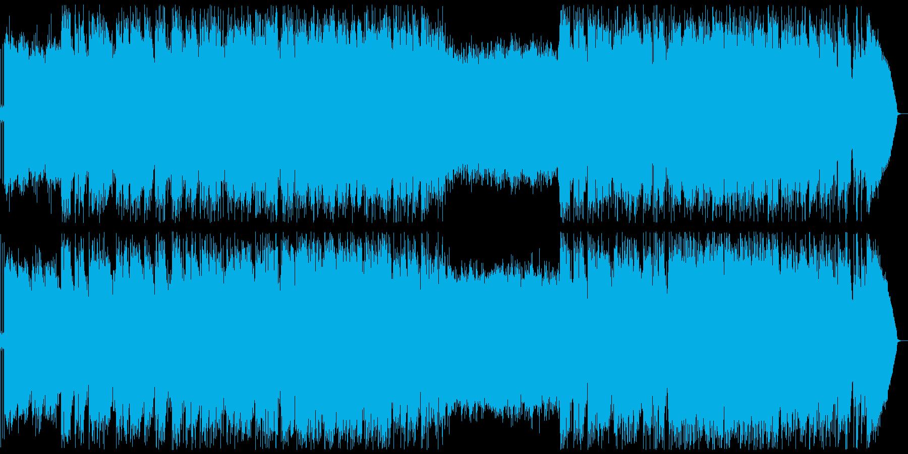 クリスマスソングパーティーチューンの再生済みの波形