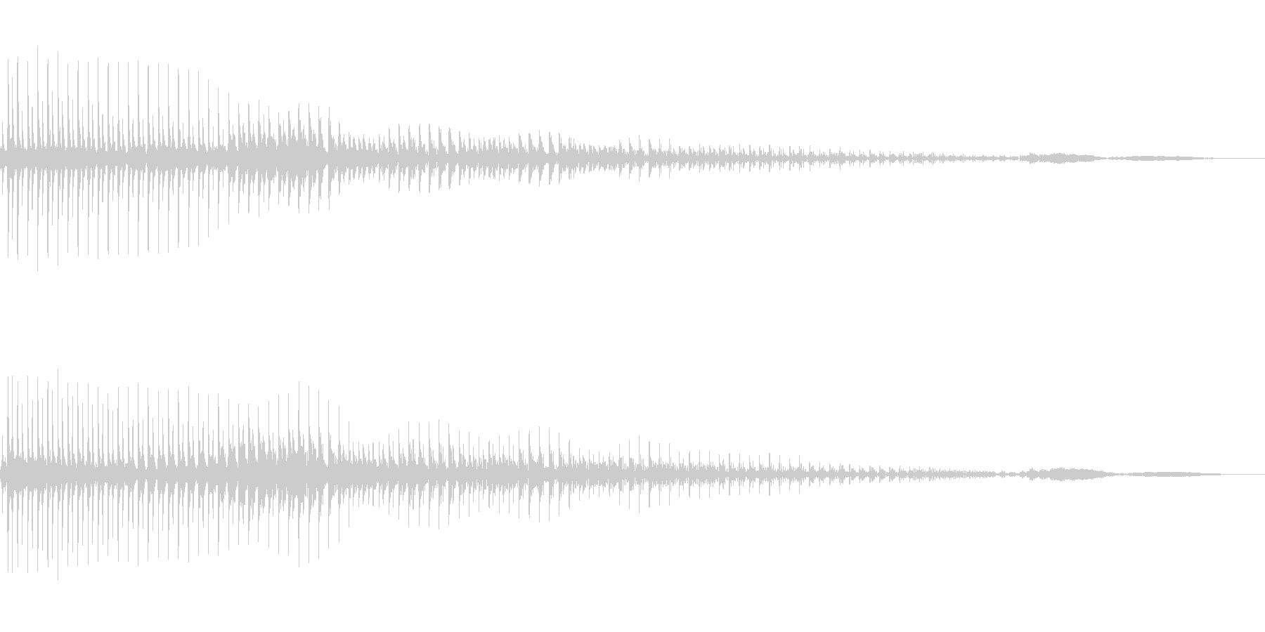 ボヨヨーンと飛び出すの未再生の波形