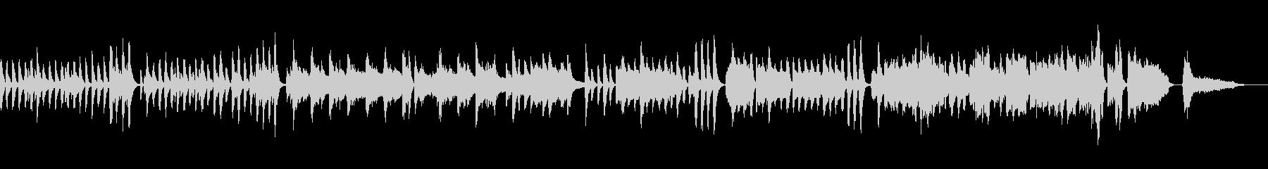 テンポのよい日常的な会話シーンの音楽の未再生の波形
