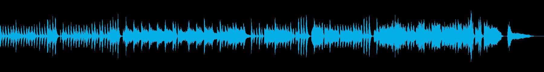 テンポのよい日常的な会話シーンの音楽の再生済みの波形