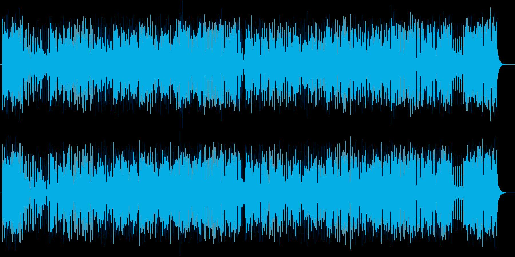 ミドルテンポの爽やかな2分OP曲の再生済みの波形