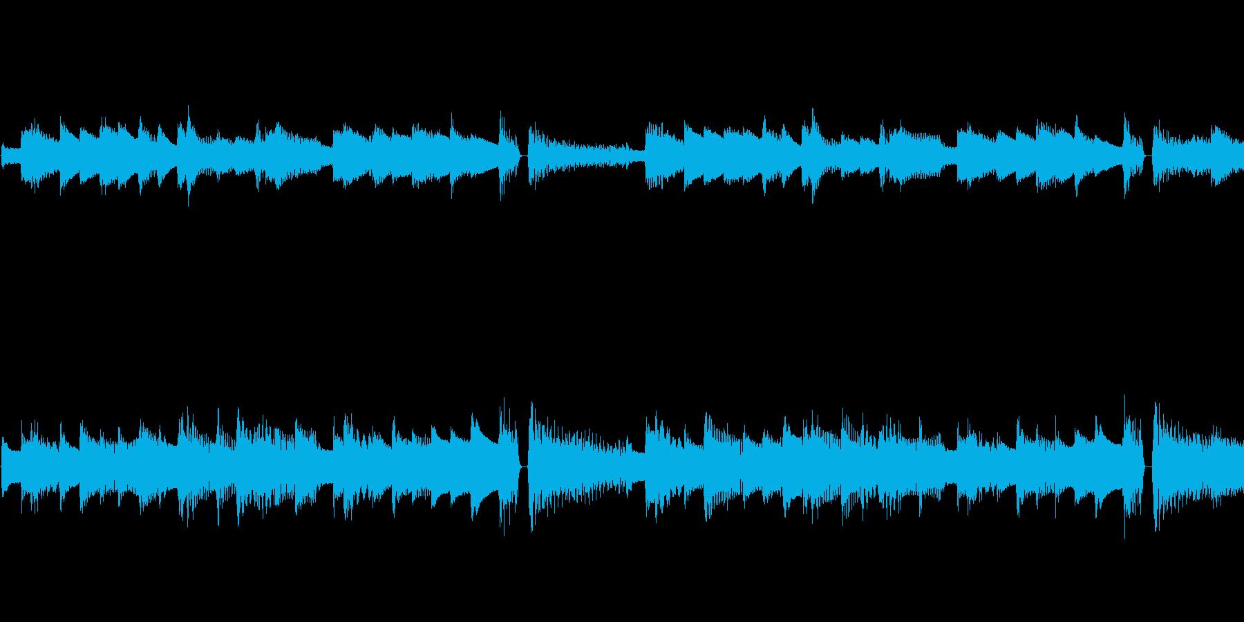 黄昏たピアノとギター・AOの再生済みの波形