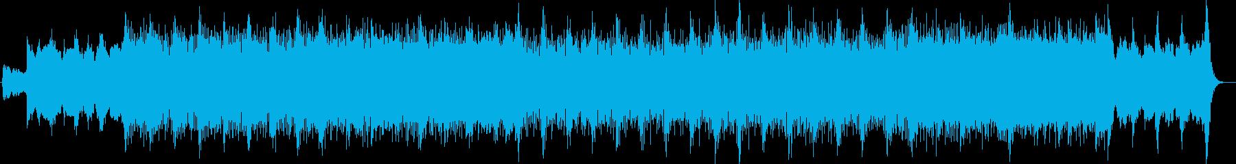 感動的なシンセサイザーギターサウンドの再生済みの波形