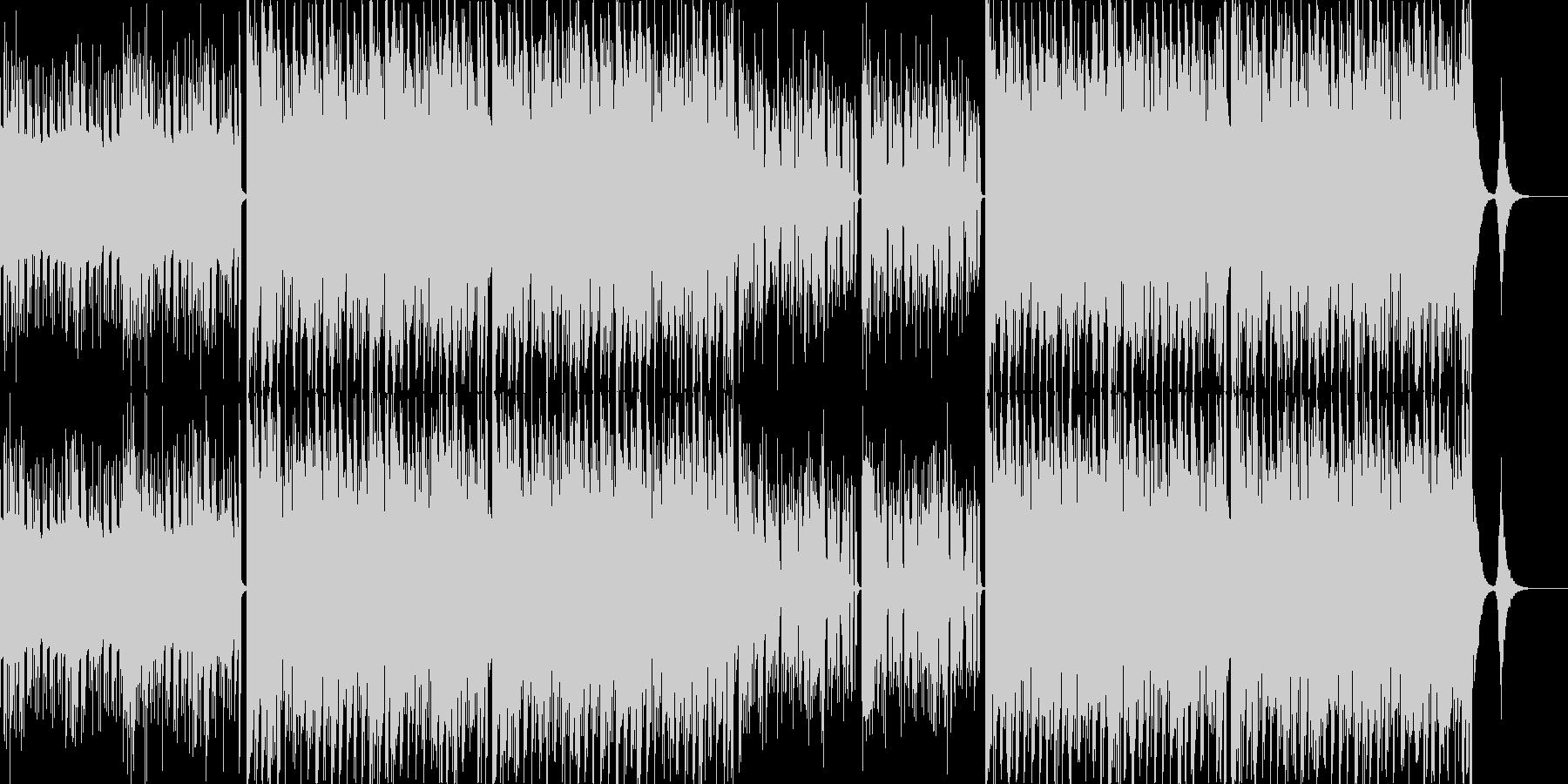 電子的な技術進歩を音で表現しました。し…の未再生の波形