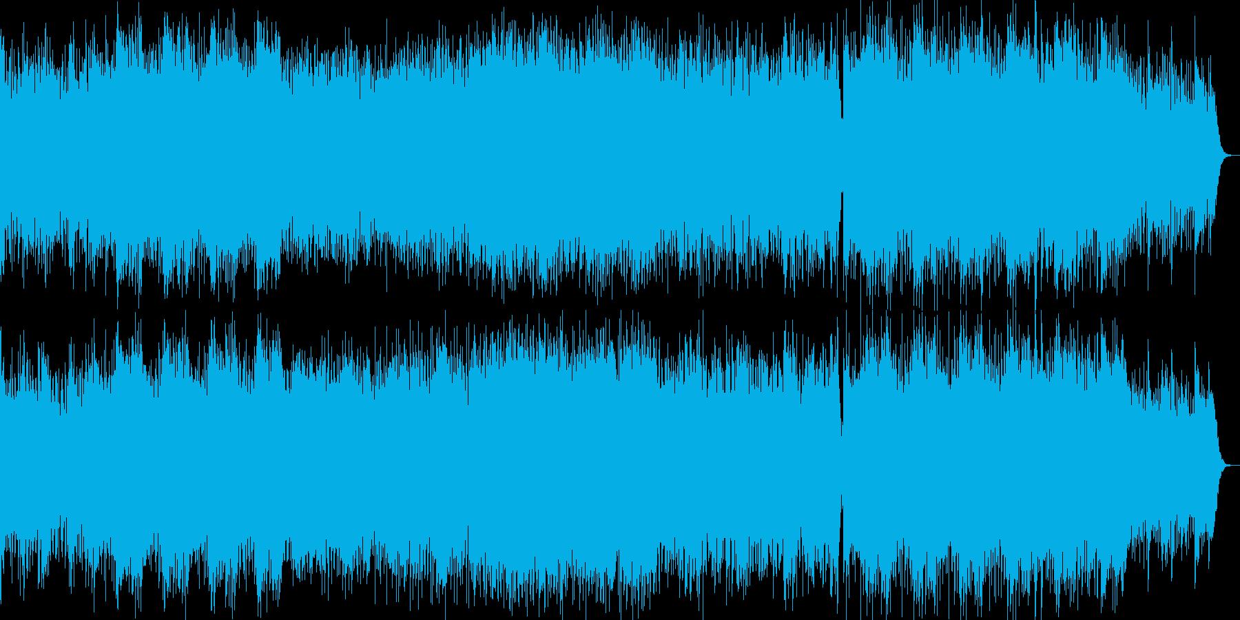 CM、映像に、癒やしポップスの再生済みの波形