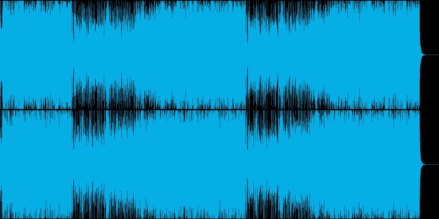 爽やかな夏の雰囲気のロックBGMの再生済みの波形