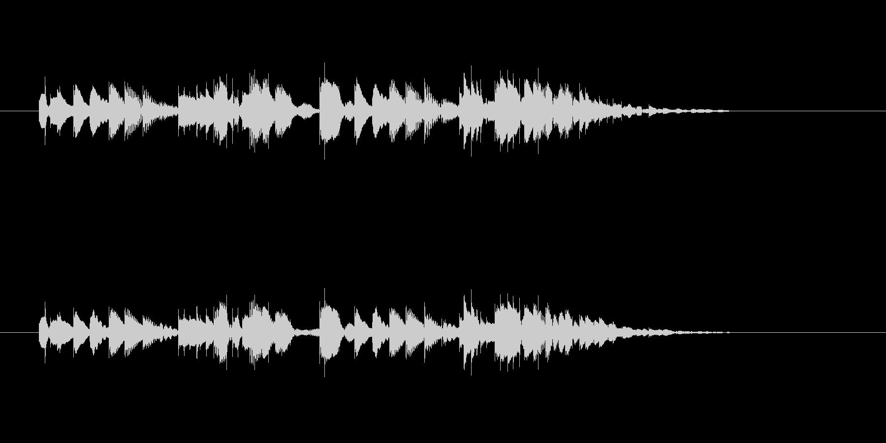 軽やかなマリンバのメロディーの未再生の波形