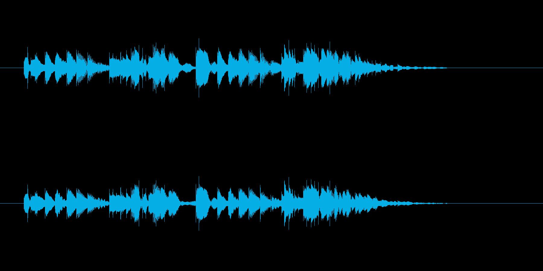 軽やかなマリンバのメロディーの再生済みの波形