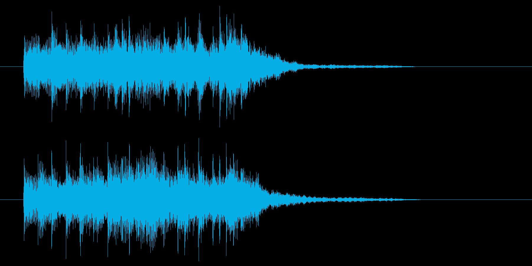 シンセベースが引っ張るエレクトロサウンドの再生済みの波形