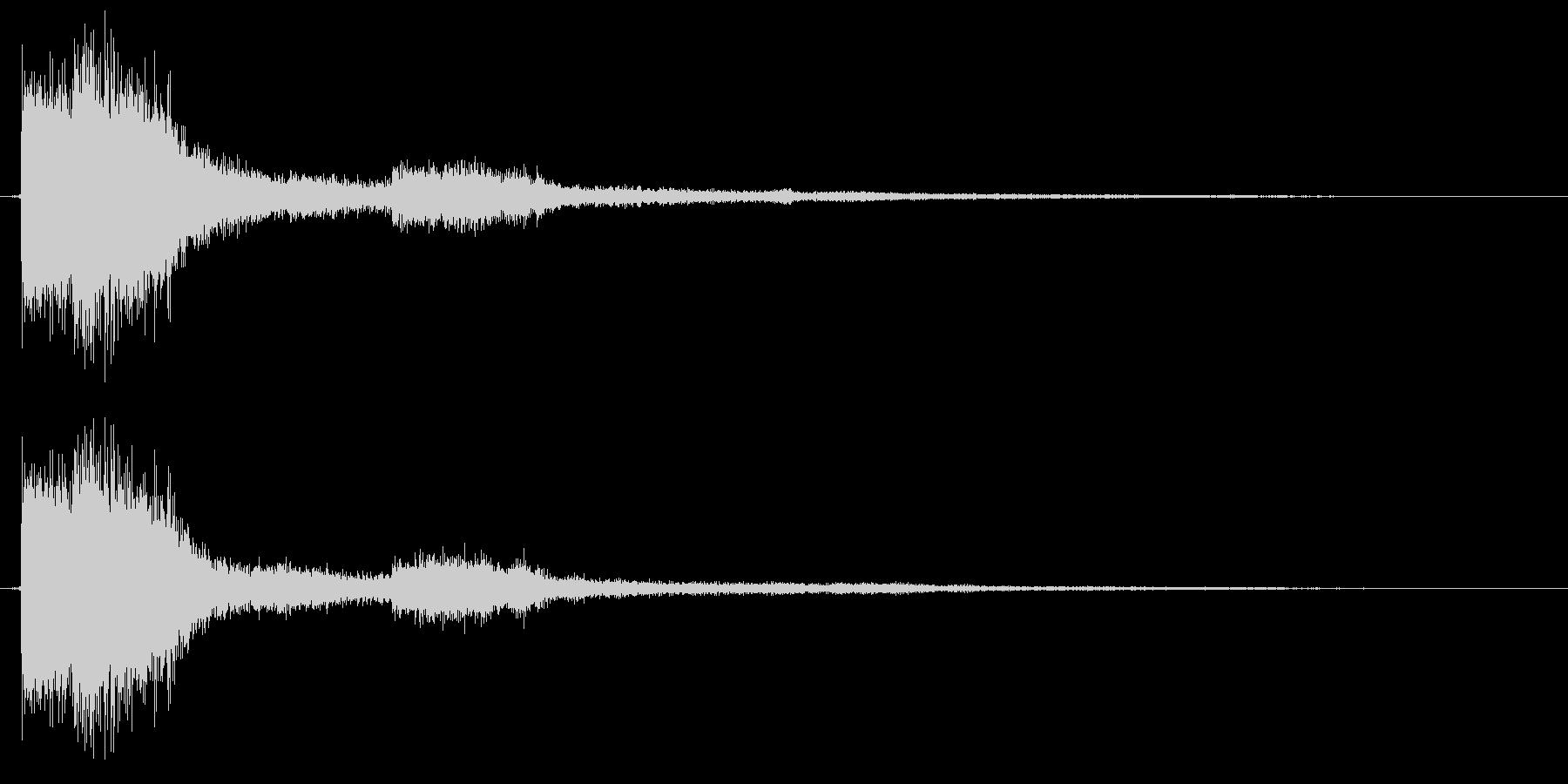 決定 キラキラ 選択 セレクト クリックの未再生の波形