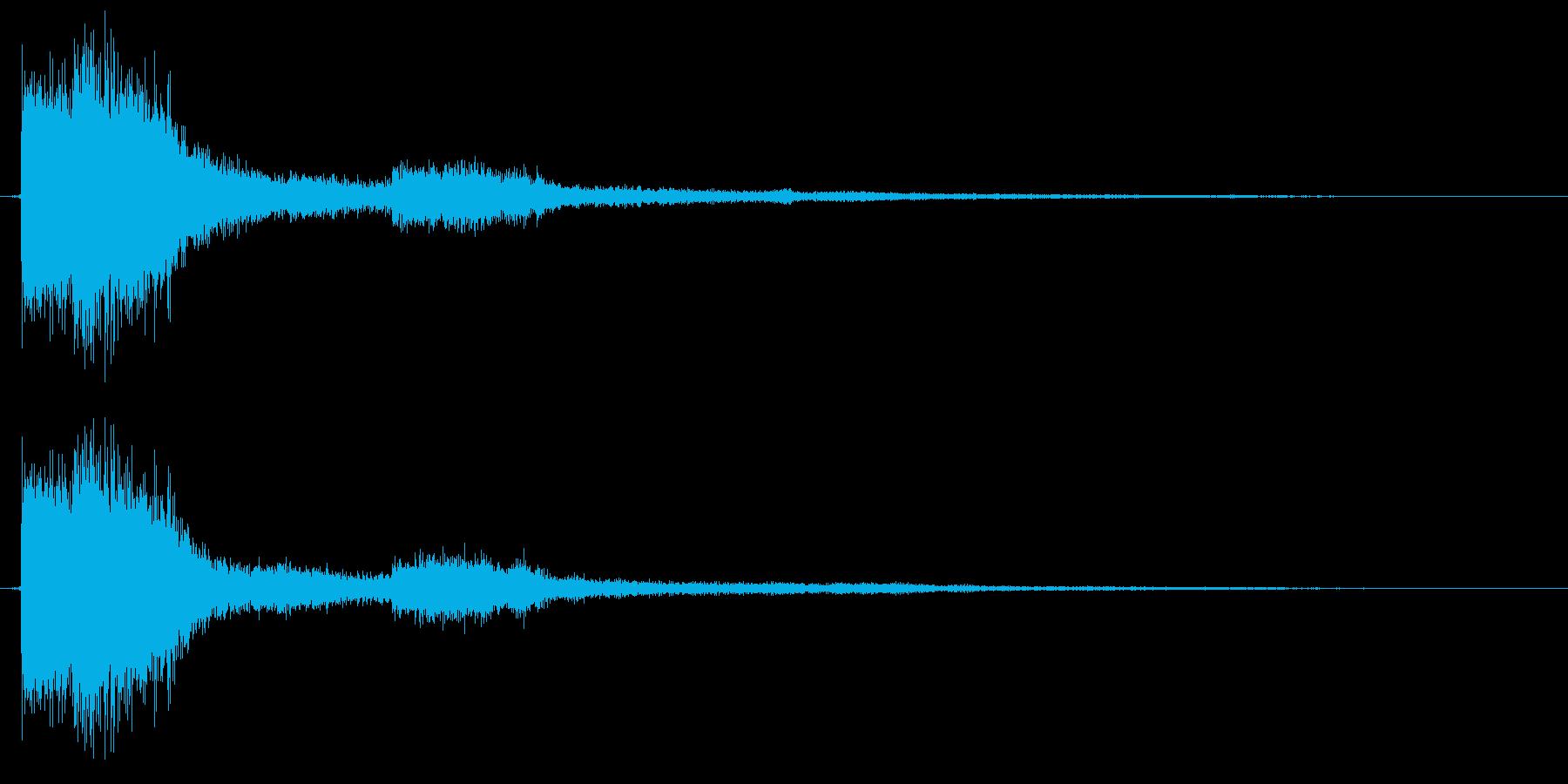 決定 キラキラ 選択 セレクト クリックの再生済みの波形