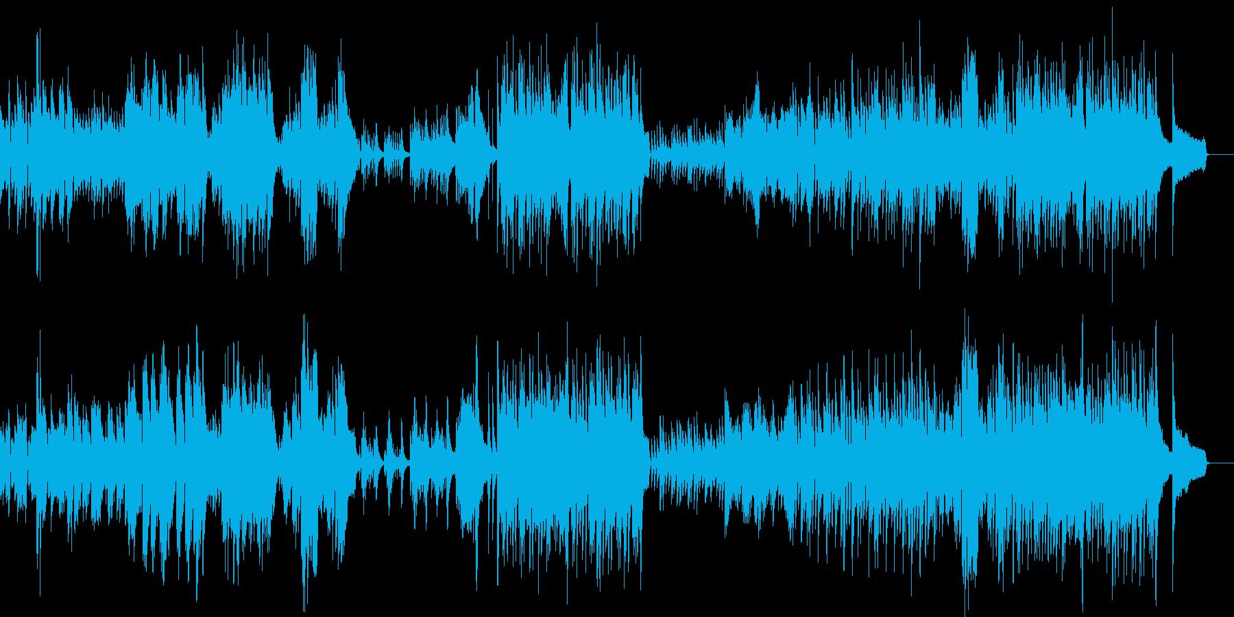 優雅なピアノワルツの再生済みの波形