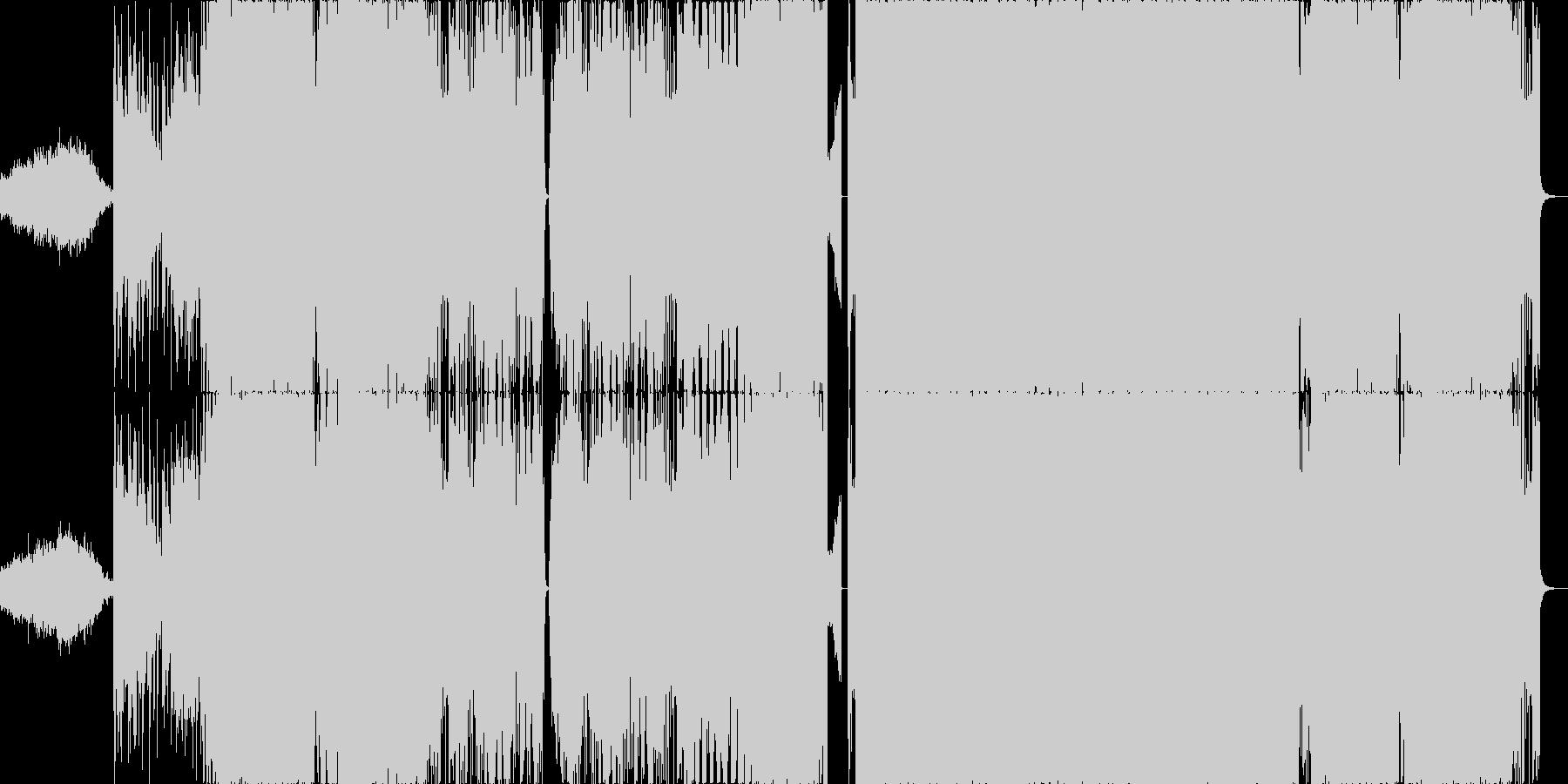 ホラー要素のあるEDMの未再生の波形