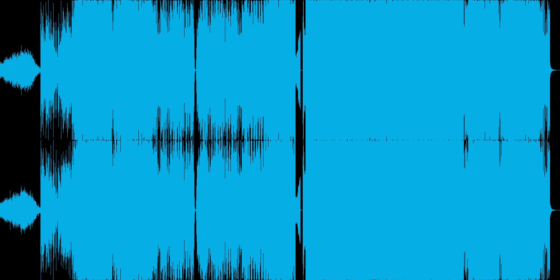 ホラー要素のあるEDMの再生済みの波形