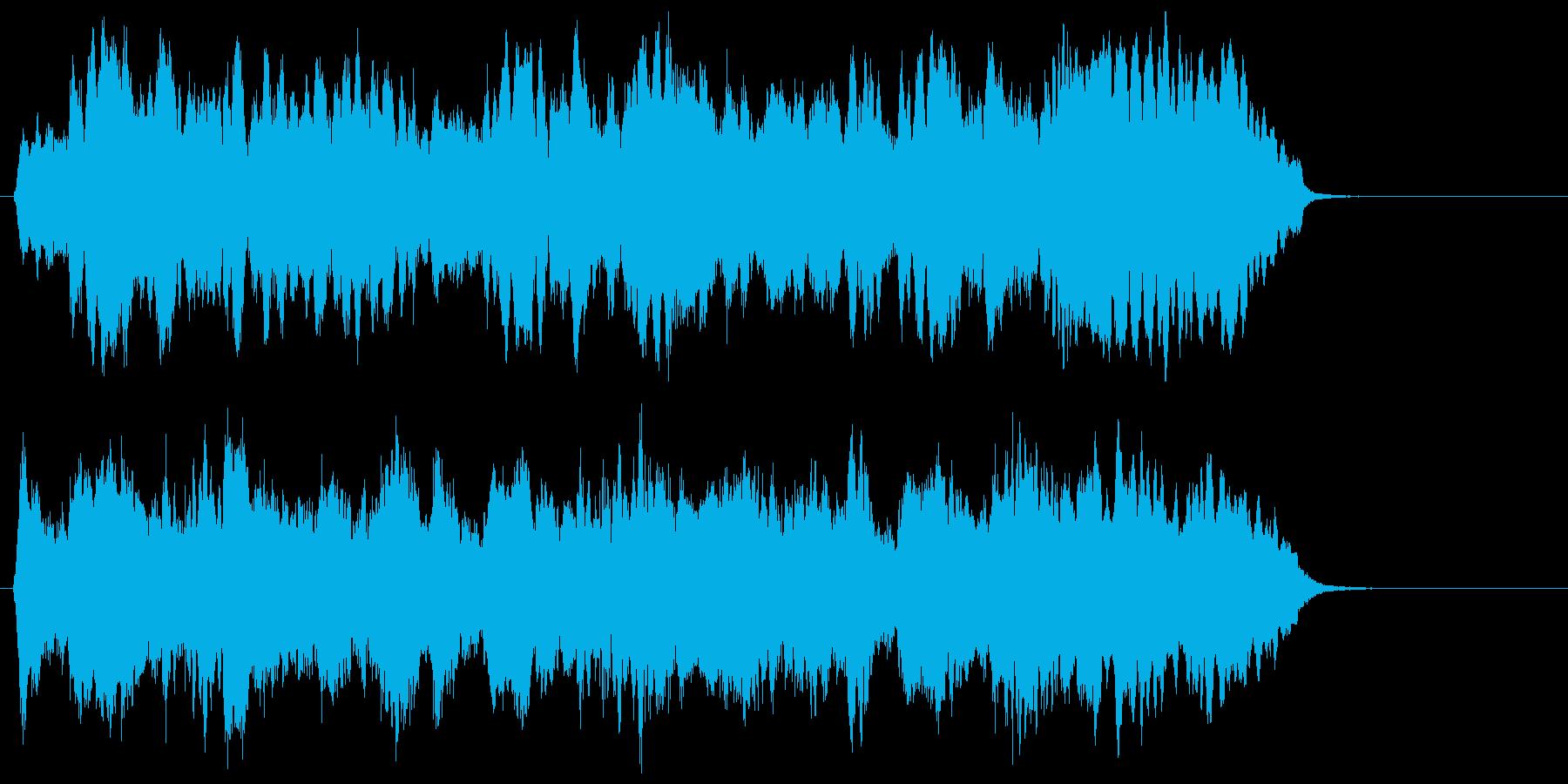 悠長で緩やかなリラクゼーションジングルの再生済みの波形