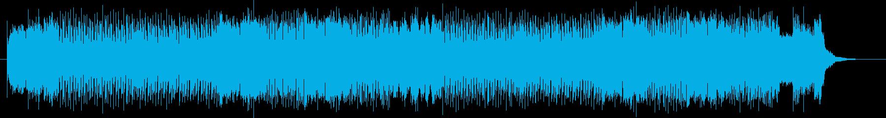パンクロックで躍動感あるエレキサウンドの再生済みの波形