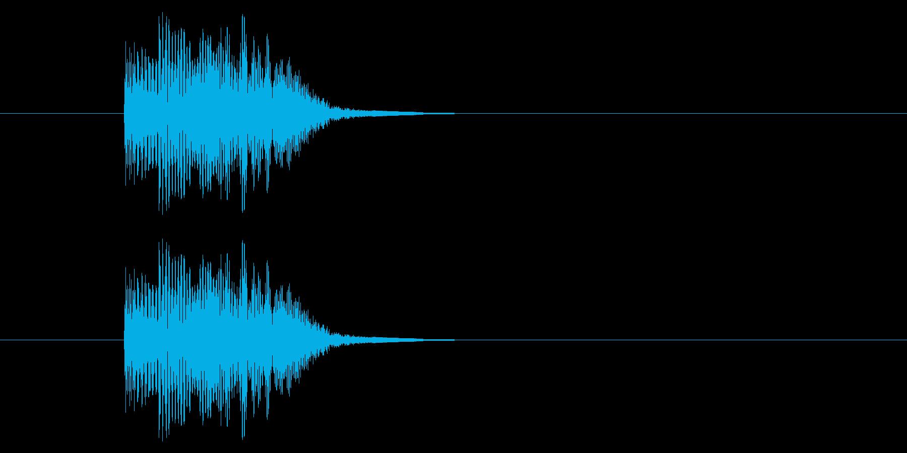 レベルアップ/星/ハート/かわいいの再生済みの波形