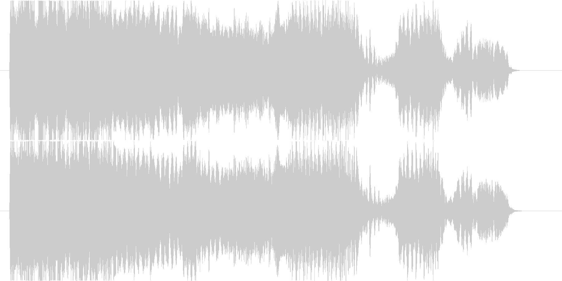 エレキギターのフィードバック音コードA#の未再生の波形