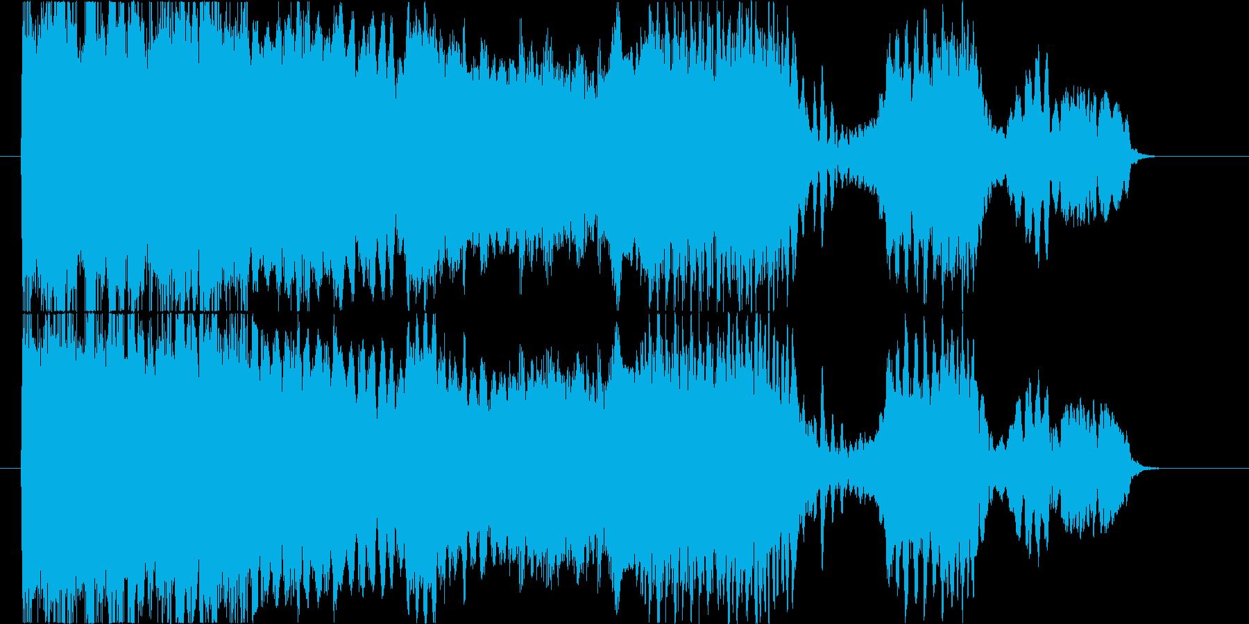 エレキギターのフィードバック音コードA#の再生済みの波形