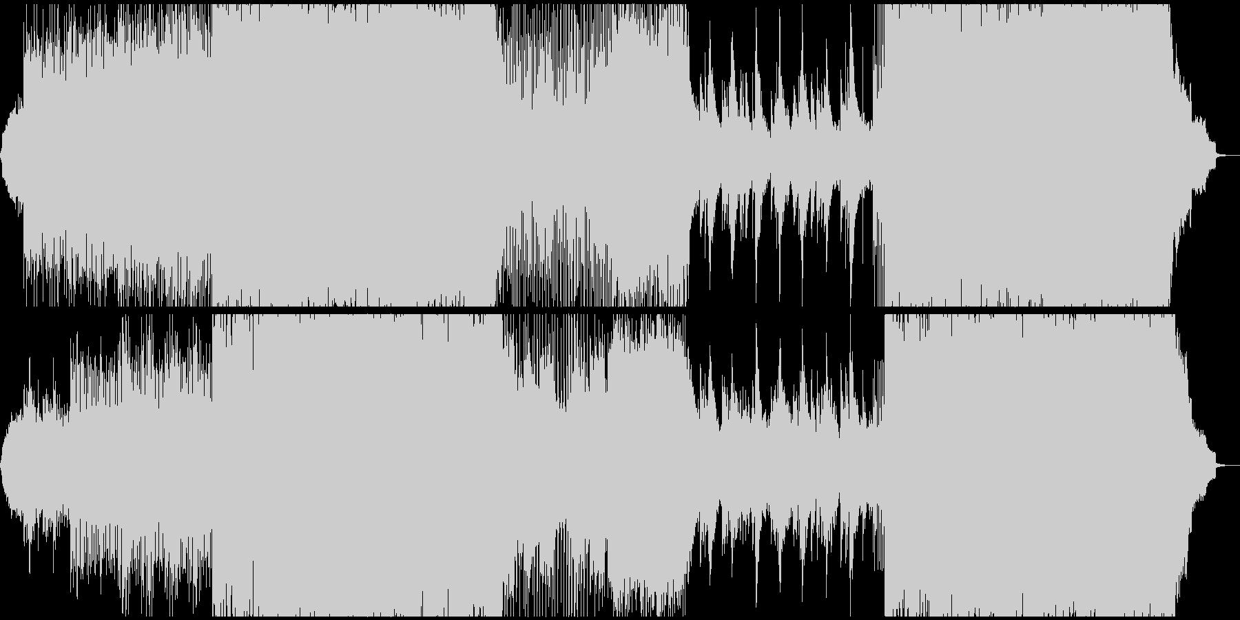 風のクロノアの様な疾走感のあるステージ曲の未再生の波形