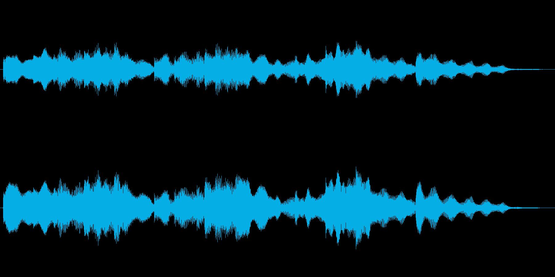 キュートな9秒サウンドロゴ・ジングルにの再生済みの波形