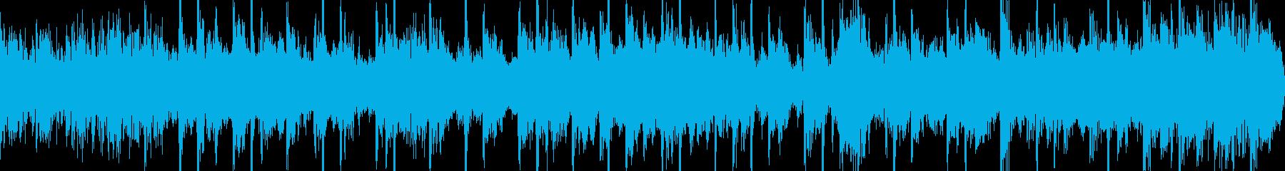 ファンキーで軽快なシンセジングルループの再生済みの波形