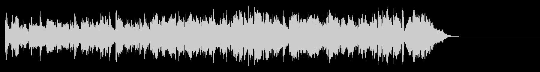 軽快なポップフュージョン(Aメロ)の未再生の波形