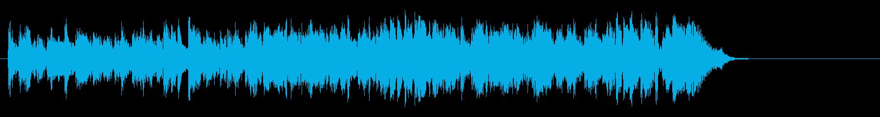 軽快なポップフュージョン(Aメロ)の再生済みの波形