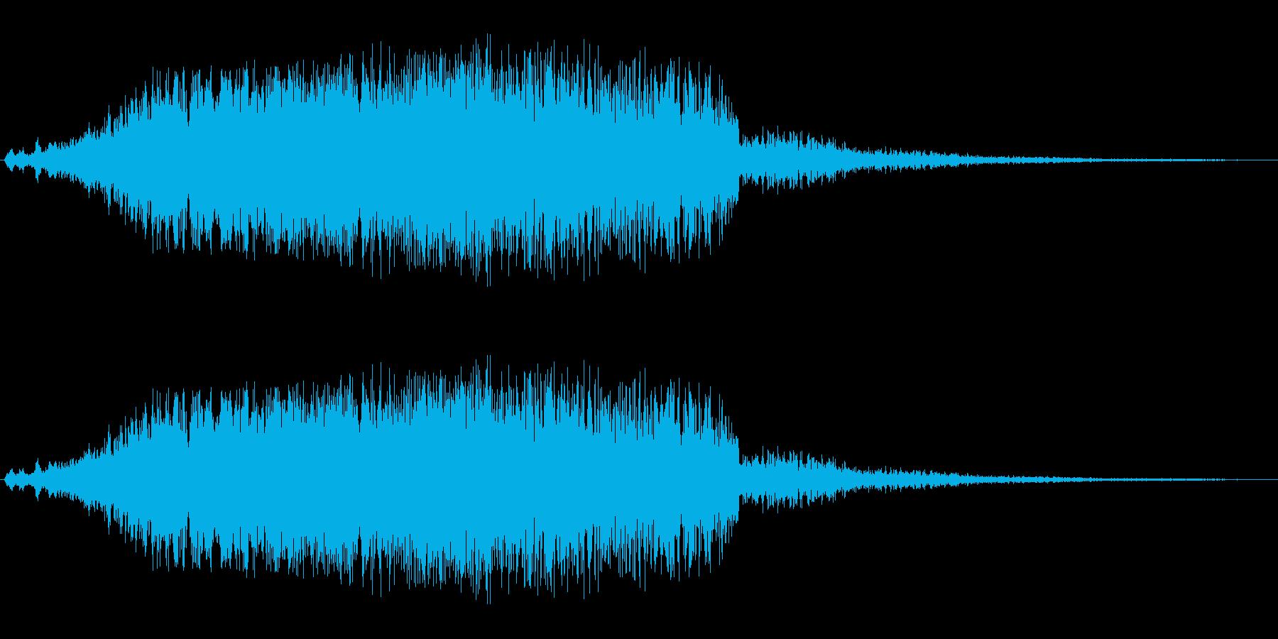 シャララ系_ダウン(UFOやビームの音)の再生済みの波形