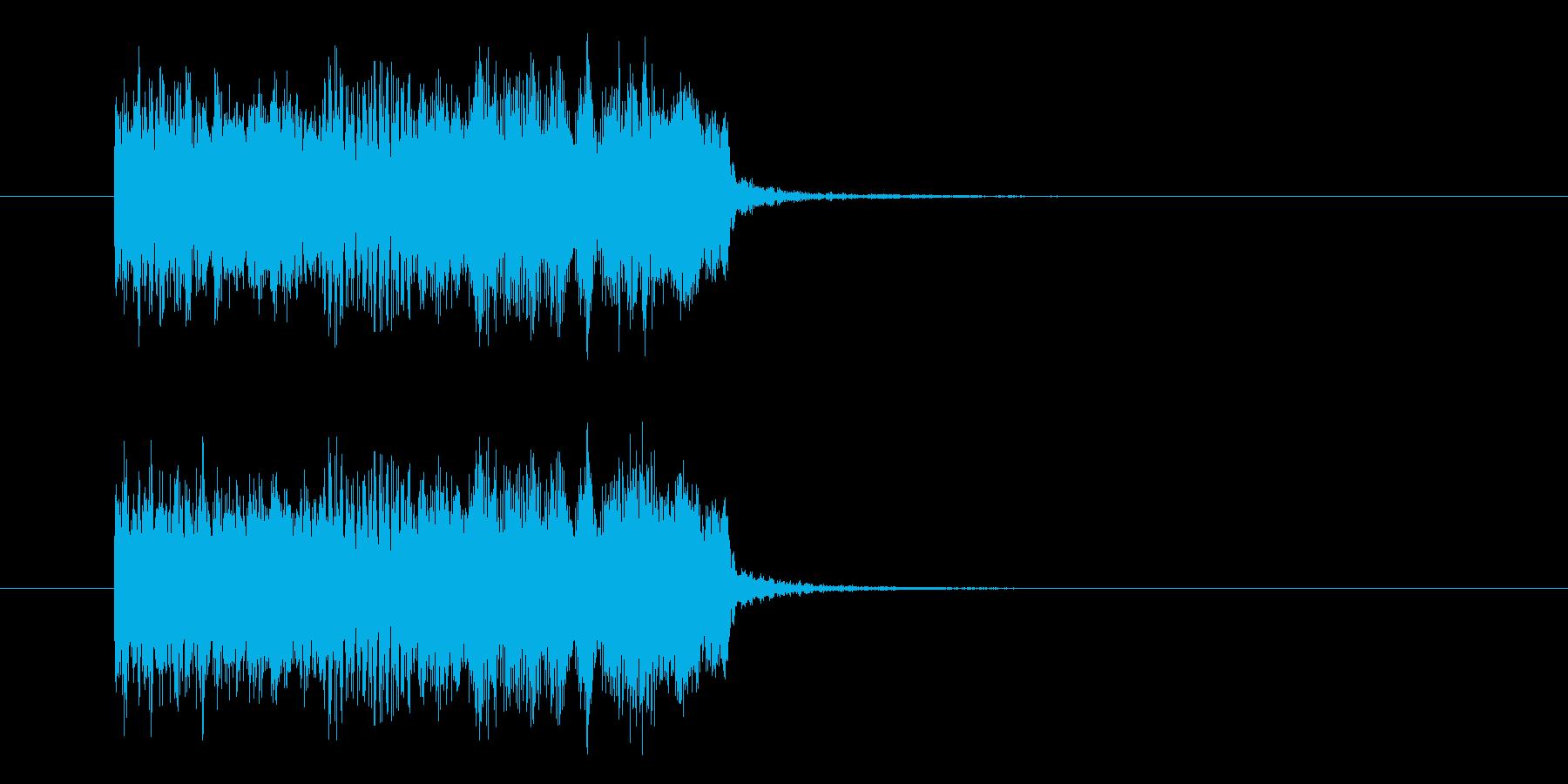 勢いあるポップでスピーディーなジングルの再生済みの波形
