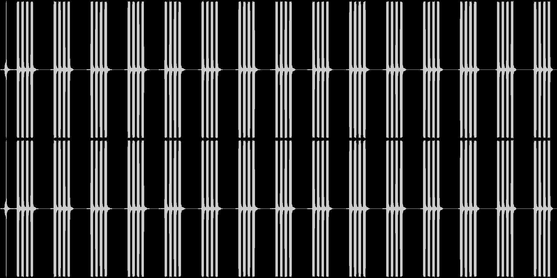 目覚まし時計のアラーム音_15秒ループの未再生の波形