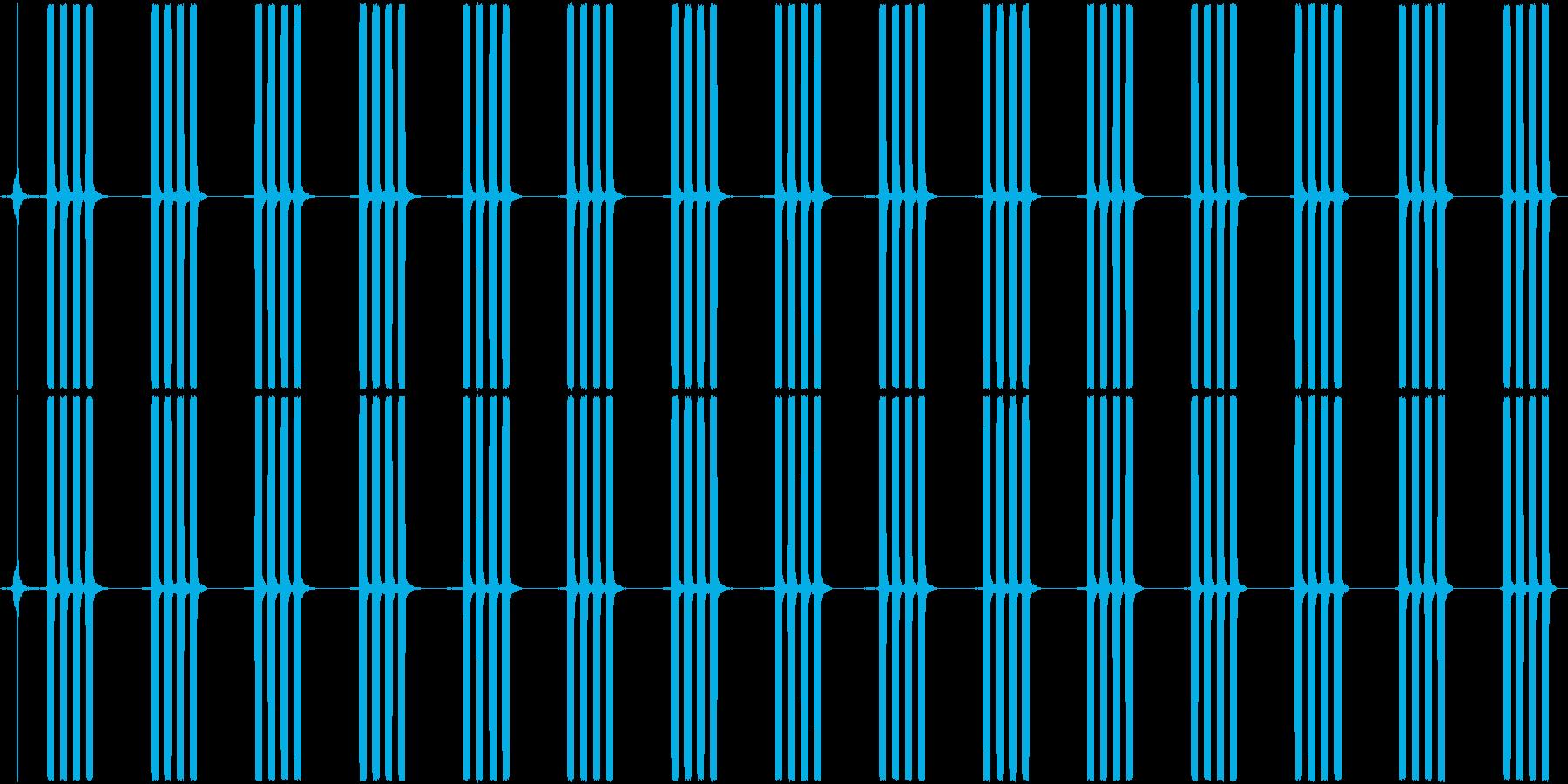 目覚まし時計のアラーム音_15秒ループの再生済みの波形