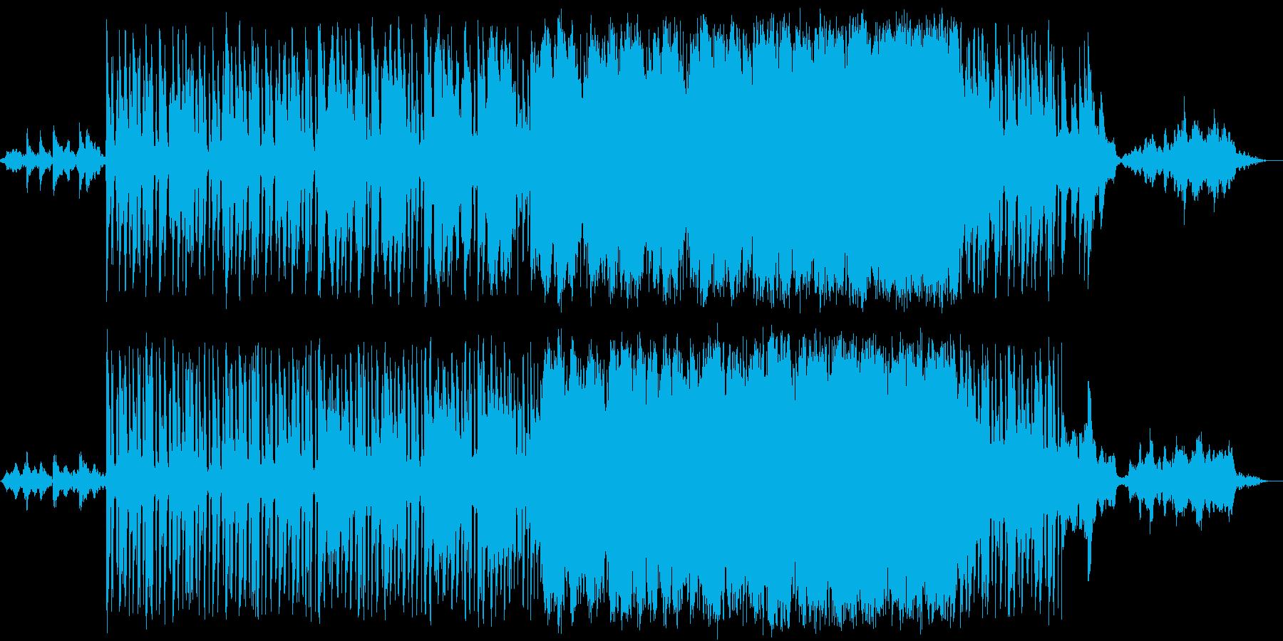 夜の空を駆けるイメージ曲の再生済みの波形