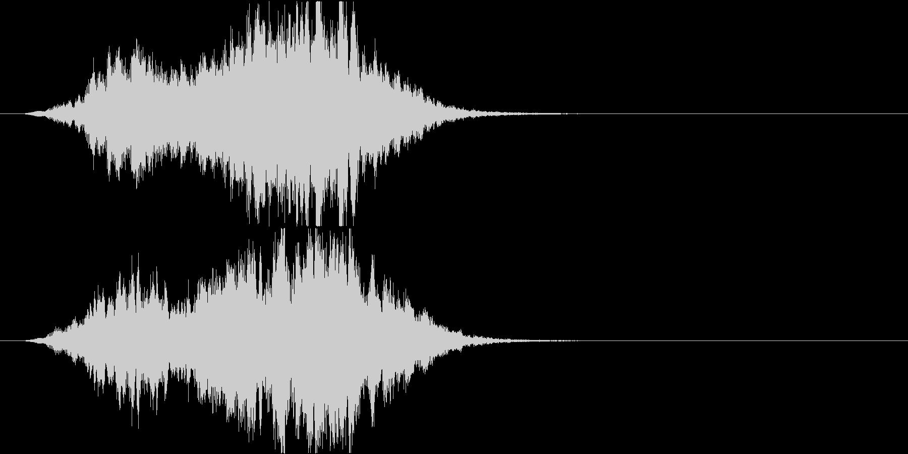 不思議な雰囲気のサウンドロゴ の未再生の波形