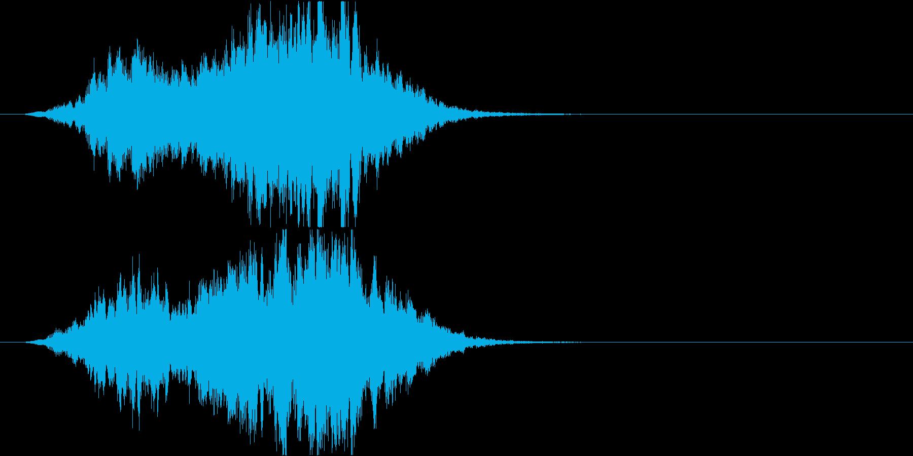 不思議な雰囲気のサウンドロゴ の再生済みの波形