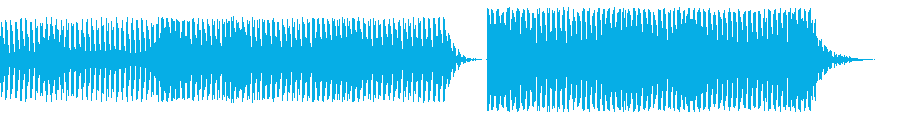 とにかくやかましいアラーム音の再生済みの波形