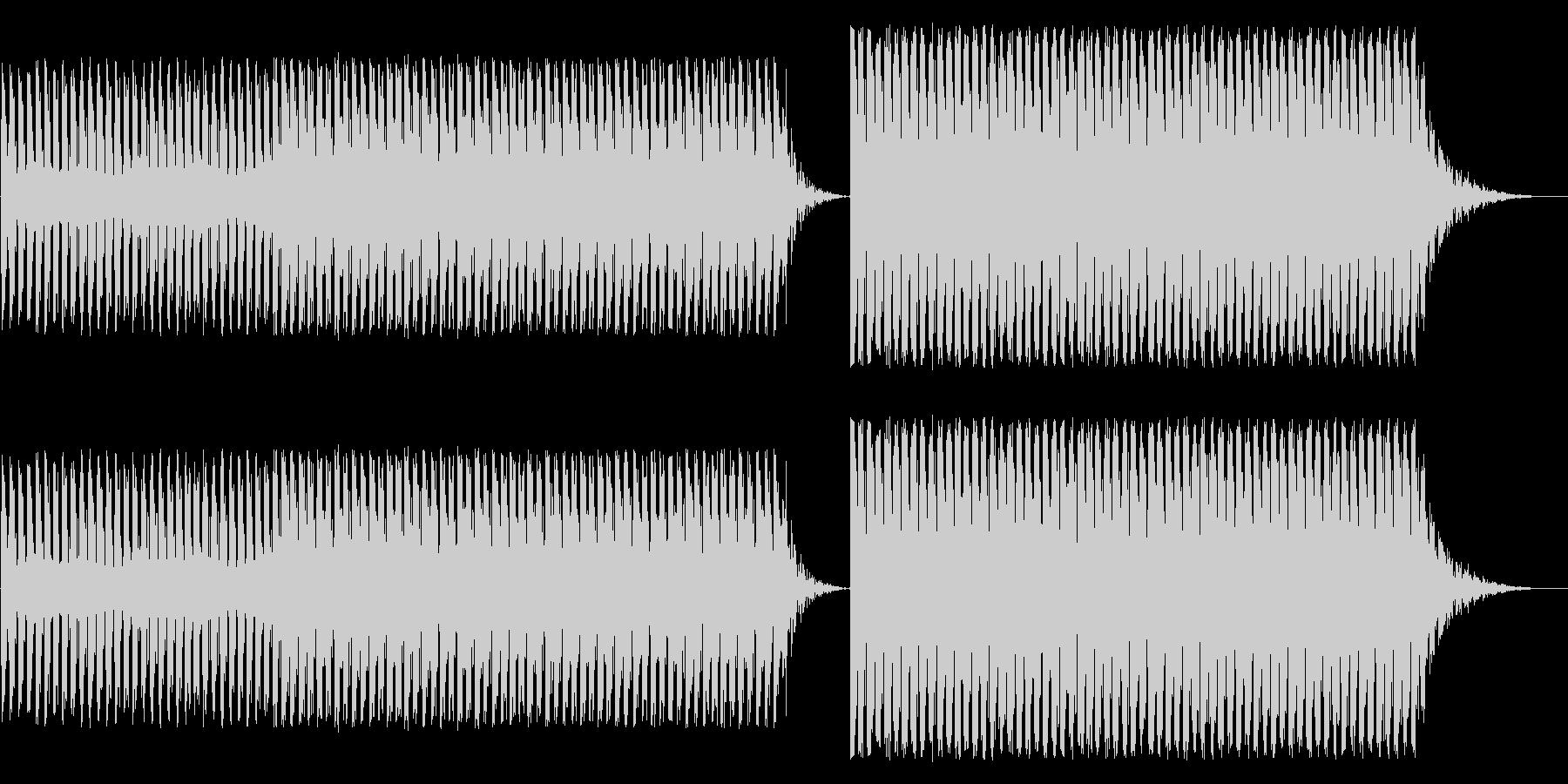 とにかくやかましいアラーム音の未再生の波形