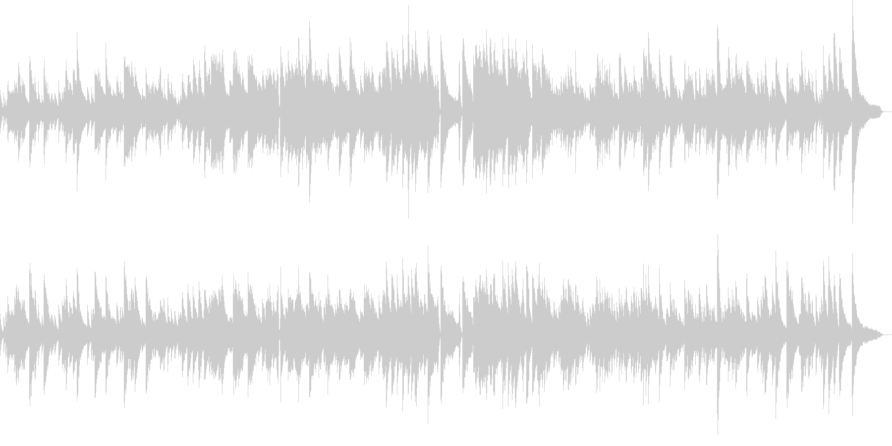 ジャズバラードテーマピアノ生演奏劇伴映像の未再生の波形