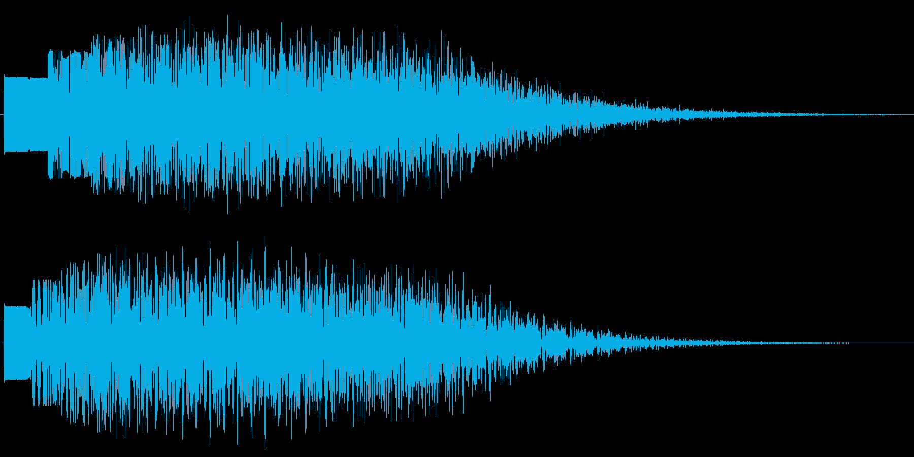 モワワワ・・・という怪音波ですの再生済みの波形