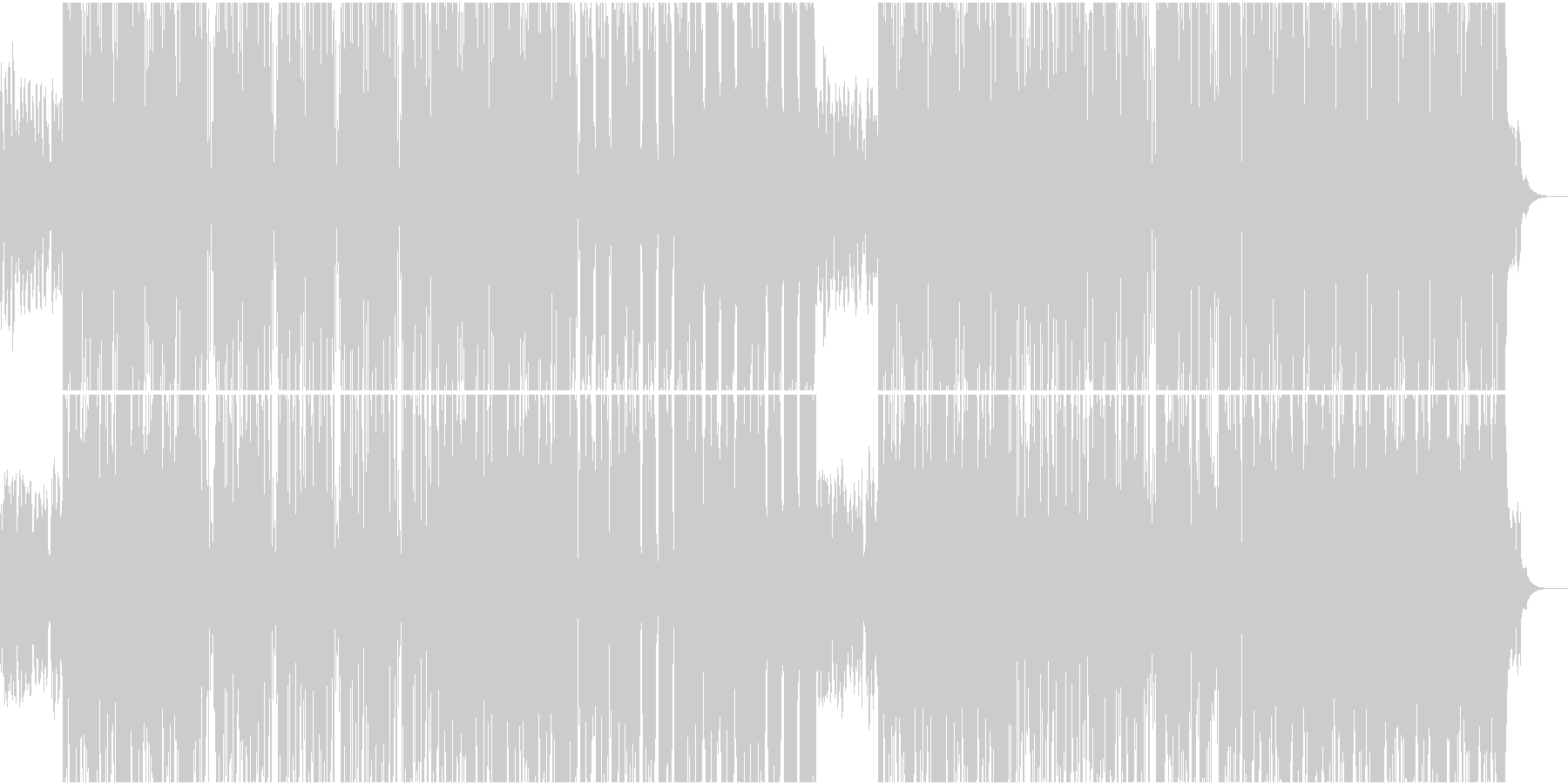 切なくゆったりしたR&B系ラウンジ楽曲の未再生の波形